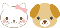猫と犬のイラスト
